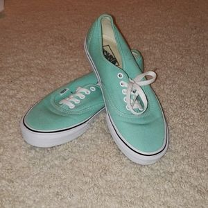 Turquoise Van's Sneakers (US women's 9, men's 7.5)